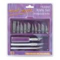 蒙瑪特套裝金屬刀(13枚刀片)#MACR0004