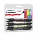 Letraset Pro Marker Set 6'S (Mid Tones)