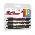Letraset Pro Marker Set 6'S (Vibrant Tones)